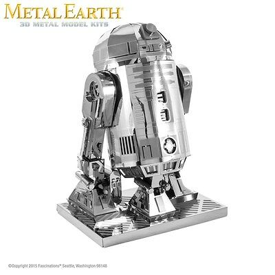 Fascinations Metal Earth Star Wars R2D2 Laser Cut 3D Model Kit R2-D2