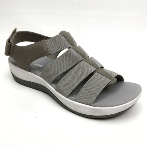 @@ Clarks Cloudsteppers Wedge Sandals Arla Shaylie
