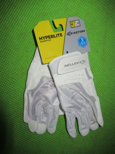 New Easton hyperlite womens fastpitch softball batting gloves size M medium