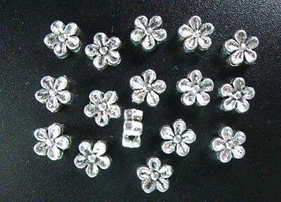 50pcs Tibetan Silver Flower Spacer Beads T476