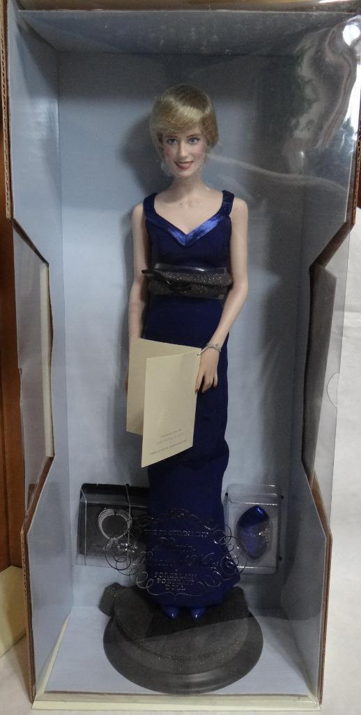 "Franklin Mint Princesa Diana "" Princesa de estilo  Muñeca De Porcelana C coa Nuevo En Caja"