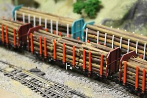Consciencieux Bulkscene Model Wooden Timber Logs For Oo/ho Gauge Wagons - Bulk Qty Packs