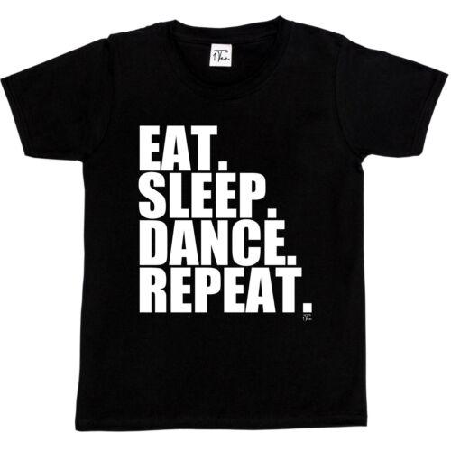 1Tee Kids Boys Eat Sleep Dance Repeat T-Shirt