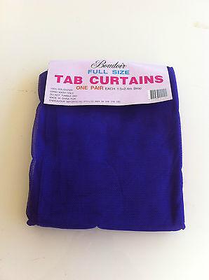 Purple Mosquito Net Sheer Tab Curtain - 150cm x 240cm 1 Pair