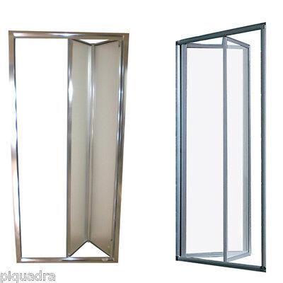 Box doccia cristallo 5 mm porta a libro soffietto cabina nicchia opaco 77 a 101