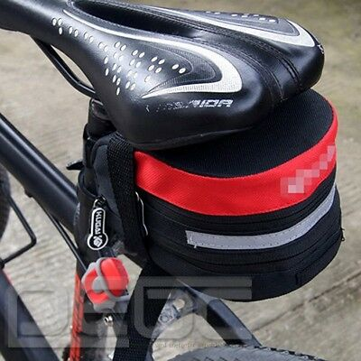 Popular Cycling Bicycle bike Red pannier saddle pouch Seat extending bag #