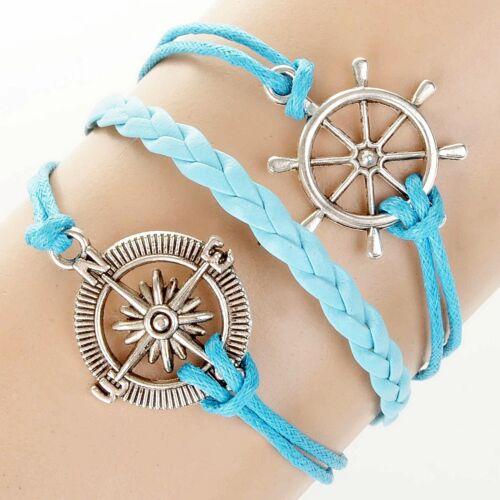 Femmes Hommes Vintage Bracelet de Surfeur Collier à la Mode Cadeau Wow
