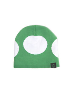 OFFICIAL-NINTENDO-SUPER-MARIO-BRO-039-S-1-UP-MUSHROOM-GREEN-BEANIE-HAT-NEW