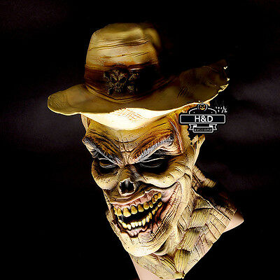 Horror Latex Full Head Mummy Mask Halloween Prop Cosplay Costume Fancy Dress