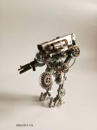 Handmade Steampunk  Battle Robot Model Figure Toy Doll Home Decor