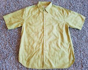 Tommy-Bahama-Mens-Large-Hawaiian-Camp-Shirt-Short-Sleeve-Green-floral-leaves