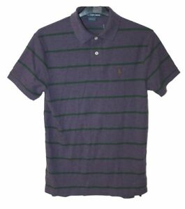 Polo Ralph Lauren Mens Slim Fit Striped Tee Top T-shirt Purple Size Small F36