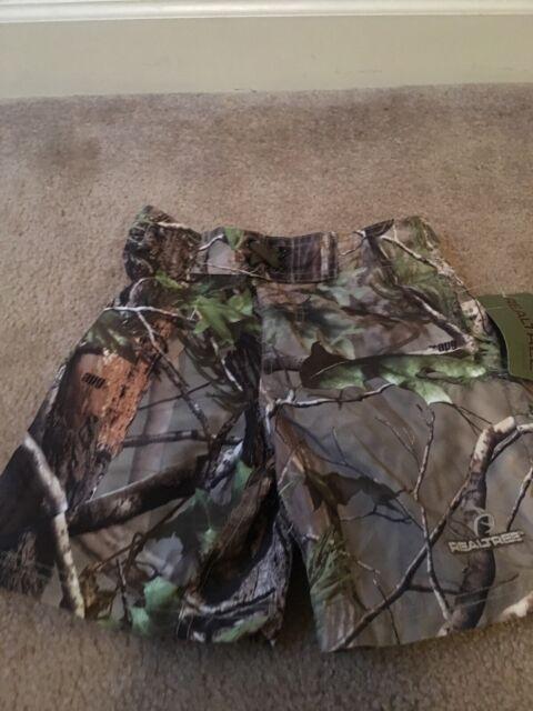 Realtree Unlined Boys Swim Shorts Sz 4/5 Multicolor Clothes NWT