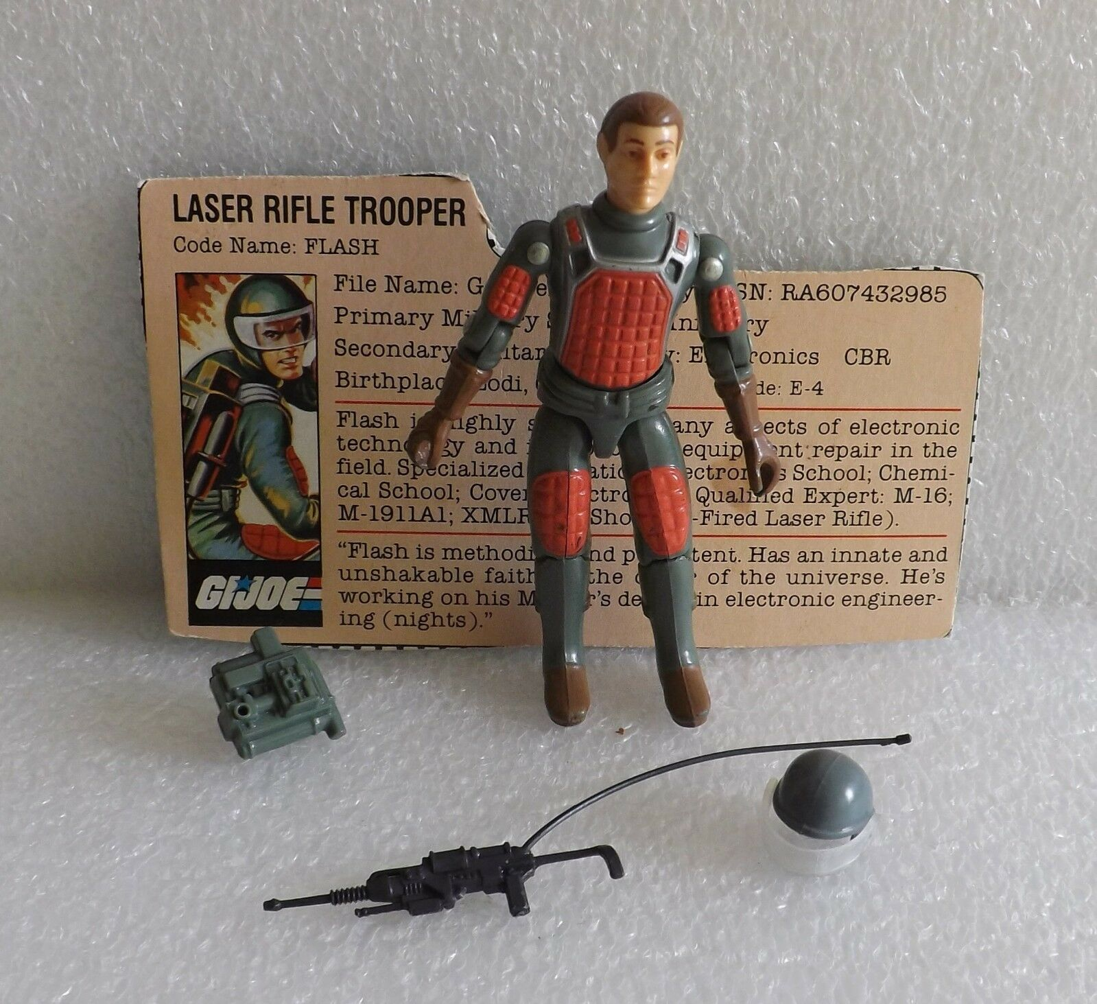 VINTAGE GI JOE 1982 FLASH LASER TROOPER STRAIGHT STRAIGHT STRAIGHT ARM 100% w FC V1 EXCELLENT 9144e6