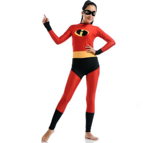 The Incredibles Costume Adult Women Elastigirl Violet Parr Cosplay Bodysuit