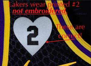 2 Heart Patch - Kobe Gigi Iron-on Patch: Purple & Gold Lakers ...