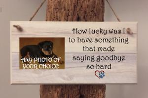 Memorial SIGN PERSONALISED PHOTO PLAQUE CAT DOG In Loving Memory PET HORSE