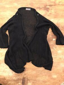 Wooden-Ships-Knit-Sweater-Cardigan-Button-Shoulder-Black-Ipen-Cardigan-S