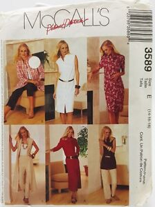 Office-Casual-Pants-Shirt-Dress-Capris-Sewing-Pattern-3589-Fits-14-16-18-New