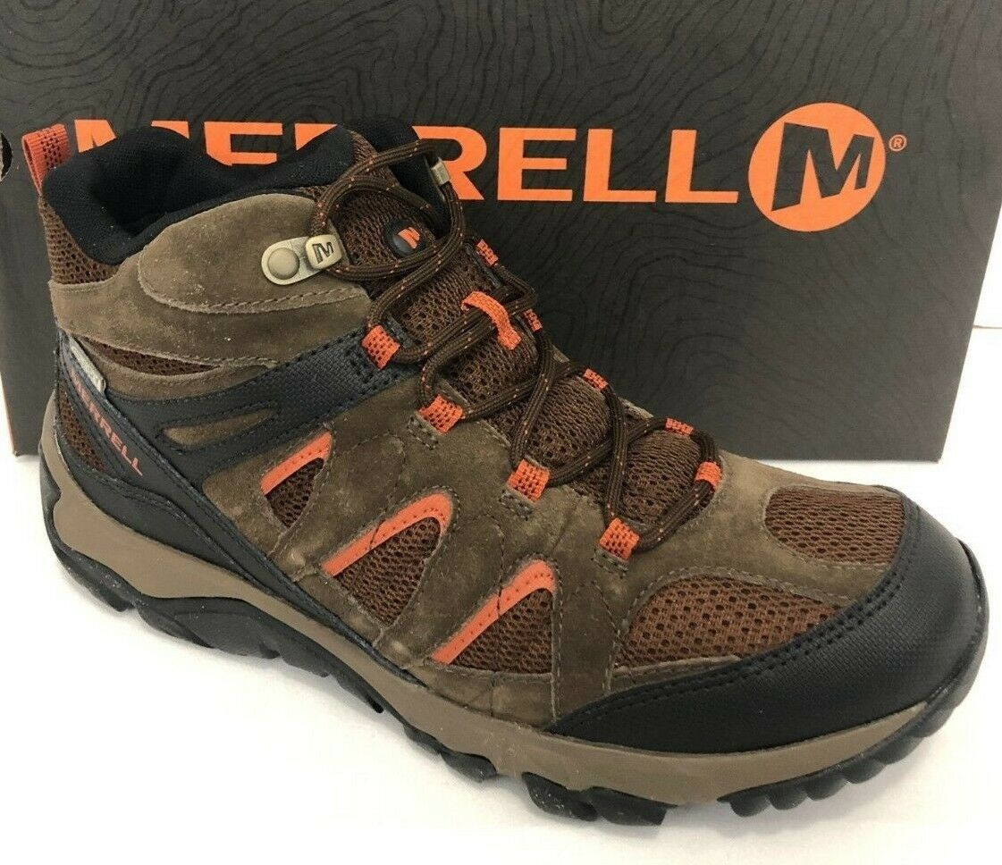 MERRELL men OUTMOST WATERPROOF HIKING BOOTS Mid Vent Ankle Ventilator Lace 9.5 M