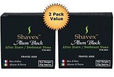 Shavex Alum Block After Shave/ Deodorant Stone for Men  *2 PACK* Travel Size
