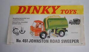 Dinky Toys No. 451, Camion Johnston, camion d'affichage de magasin rare, - Superbe
