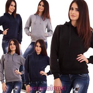 Felpa-donna-maglia-cappuccio-maniche-lunghe-casual-sport-palestra-nuova-YB033