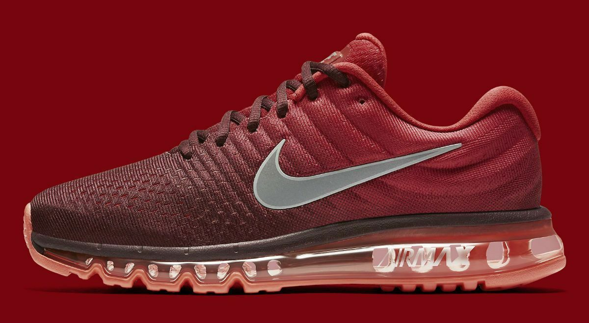 Nike Air Max 2017 849559-601 Night Maroon White Gym Red Mens Sz 13
