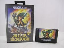 RARE Sega Genesis Game - Alisia Dragoon Game & Case - TESTED & WORKING
