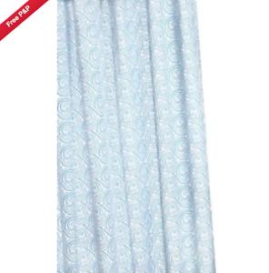 CROYDEX-RETRO-BLUE-SWIRLS-HYGIENE-039-N-039-CLEAN-ANTI-BAC-TEXTILE-SHOWER-CURTAIN