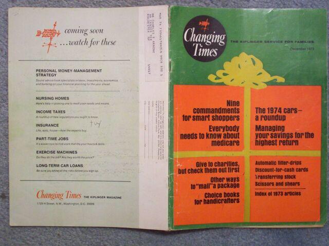 1973 décembre Changing times Magazine The Kiplinger Service pour les familles Vol. 2