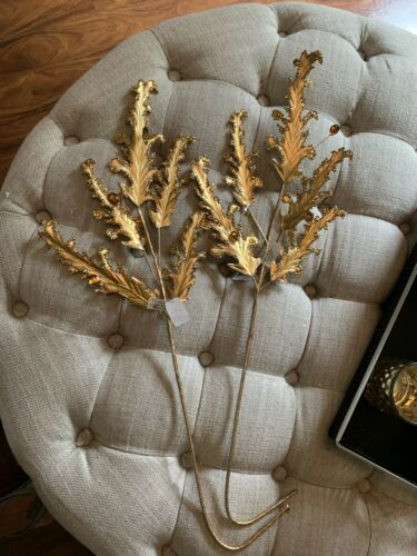 08-80197 Brand New! Katherines Collection Gold Leaf Spray Set Of 2