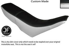 WHITE & BLACK VINYL CUSTOM FITS GILERA GSM 50 DUAL SEAT COVER ONLY