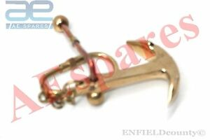 BRAND NEW ANCHOR STAND LOOK NAUTICAL BRASS KEY RING KEYCHAIN