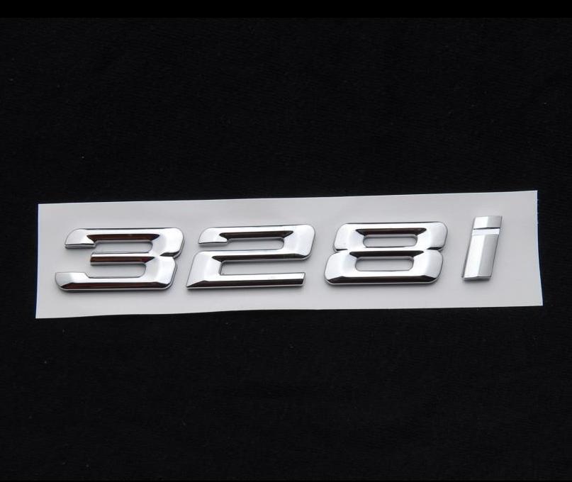 Black Matte 328i Trunk Emblem Badge Letters For BMW 3-Series Model
