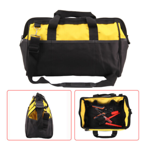 16 Inch Tool Bag Hard Bottom, Shoulder Strap, Heavy Duty Tool Case, Carry Handle