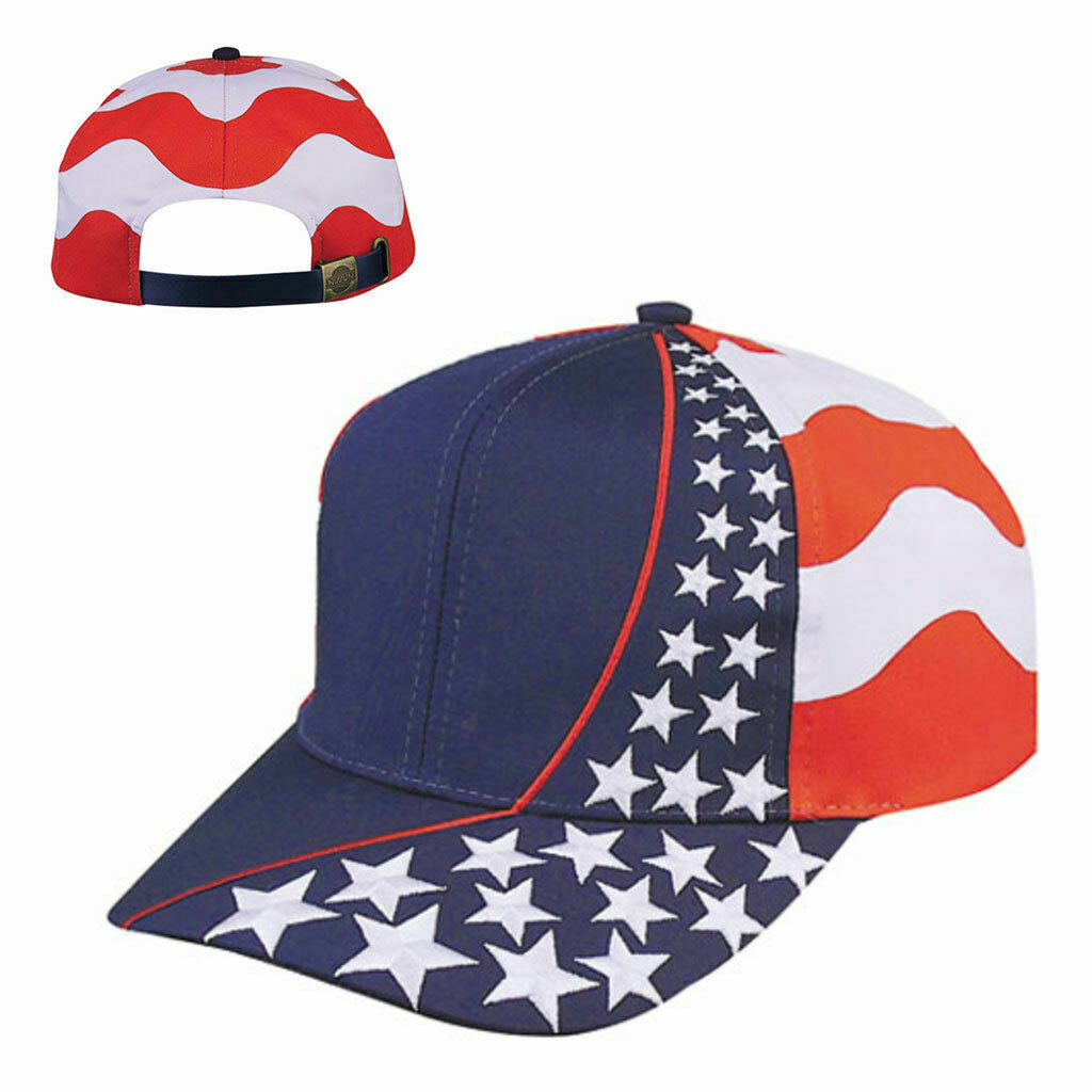 4th of July American Flag Star Mens Trucker One Size Casual Flexfit Snapback Hat