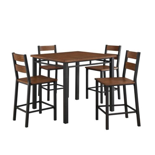 Dining Room Table Set Counter Height Kitchen Tables And Chairs 5 Piece Wood Sets