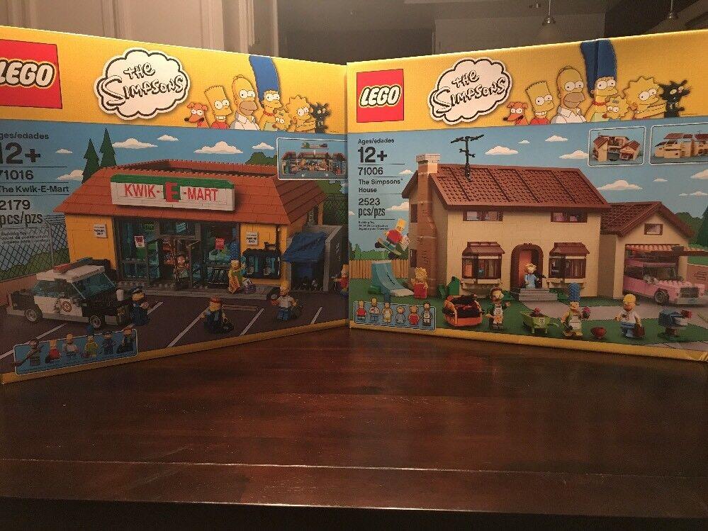 Lego The Simpsons House (71006) + el Kwik-E-Mart (71016) Nuevo Sellado