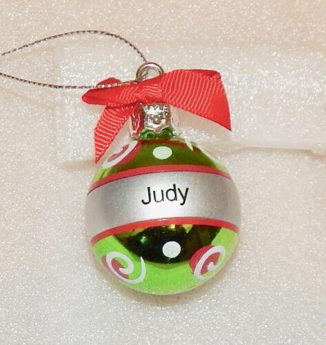 "Christmas Keepsake Ornaments Green  Ganz 2/"" x 1 1//2/"" You Choose Many Names 178Y"