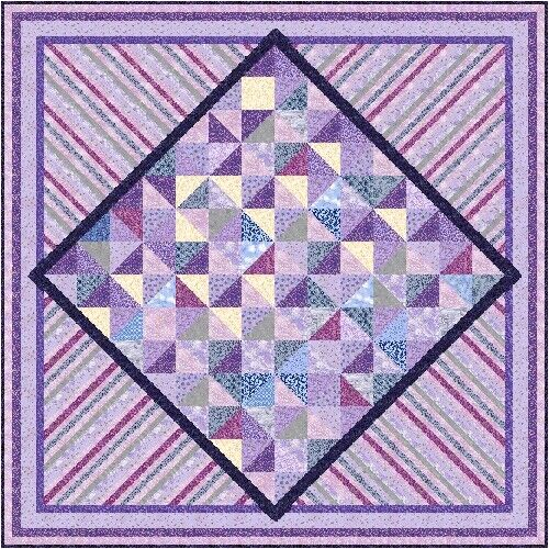 "ULTRA VIOLET 97"" x 97"" Precut Quilt Kit by QuiltAddicts King size"