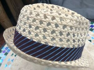 united kingdom best quality sleek Details about Christys Crown Series Tony Merenda Fedora Style Straw Hat  Size Large