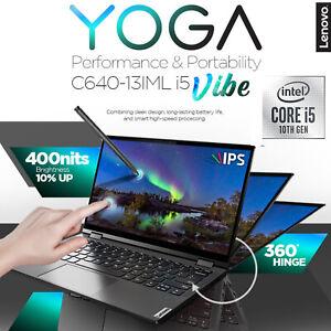 Lenovo Yoga C640 13iml I5 Vibe Laptop Intel I5 10th Iron Grey 8gb Nvme Ssd Ips Ebay