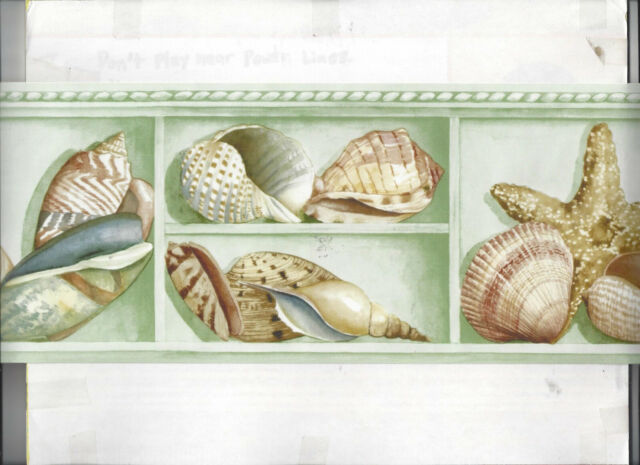 Shells Starfish Beach Seashell Wallpaper Border New Arrival Nautical