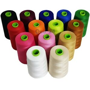 Polyhammer-Threads-Industrial-Cotton-Polyester-Large-9000m-Spools-Reels-Sewing