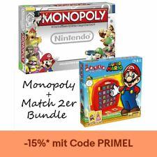 Monopoly Nintendo Brettspiel Top Trumps Match Super Mario 2er Bundle Spiel Set