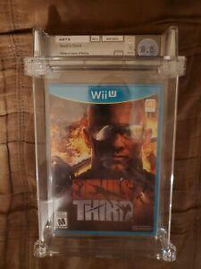 Devil's Third Wii U Nintendo WATA Graded 8.5 A+