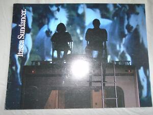 Image Is Loading Winnebago Itasca Sundancer Motorhome Brochure 1987