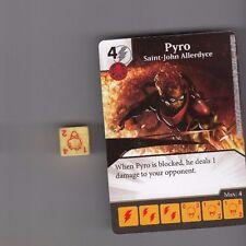 DICE MASTERS UNCANNY X-MEN COMMON #51 PYRO SAINT-JOHN ALLERDYCE CARD WITH DICE