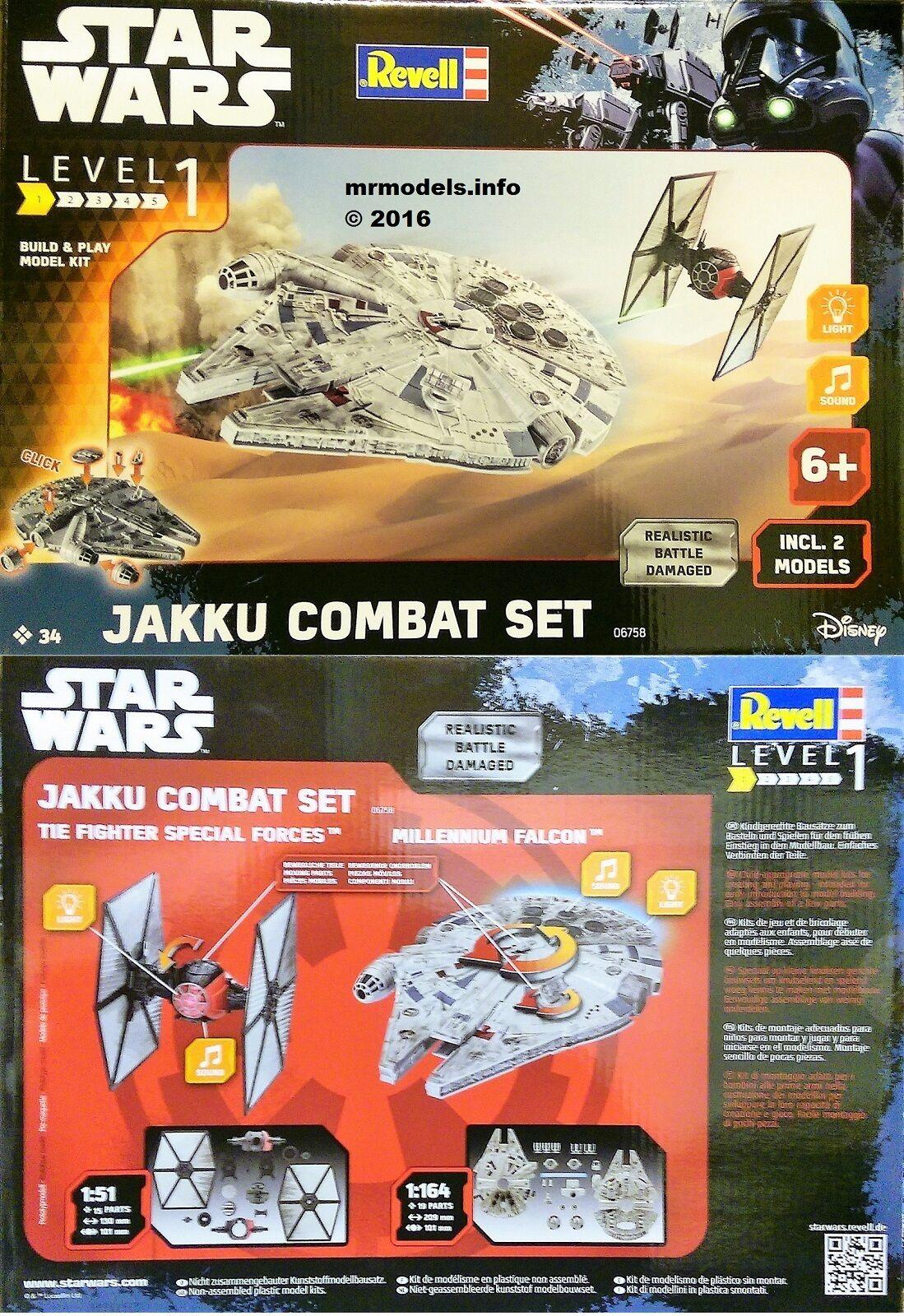 Revell 06758-1//51 /& 1//64 Star Wars Jakku Combat Set Neu